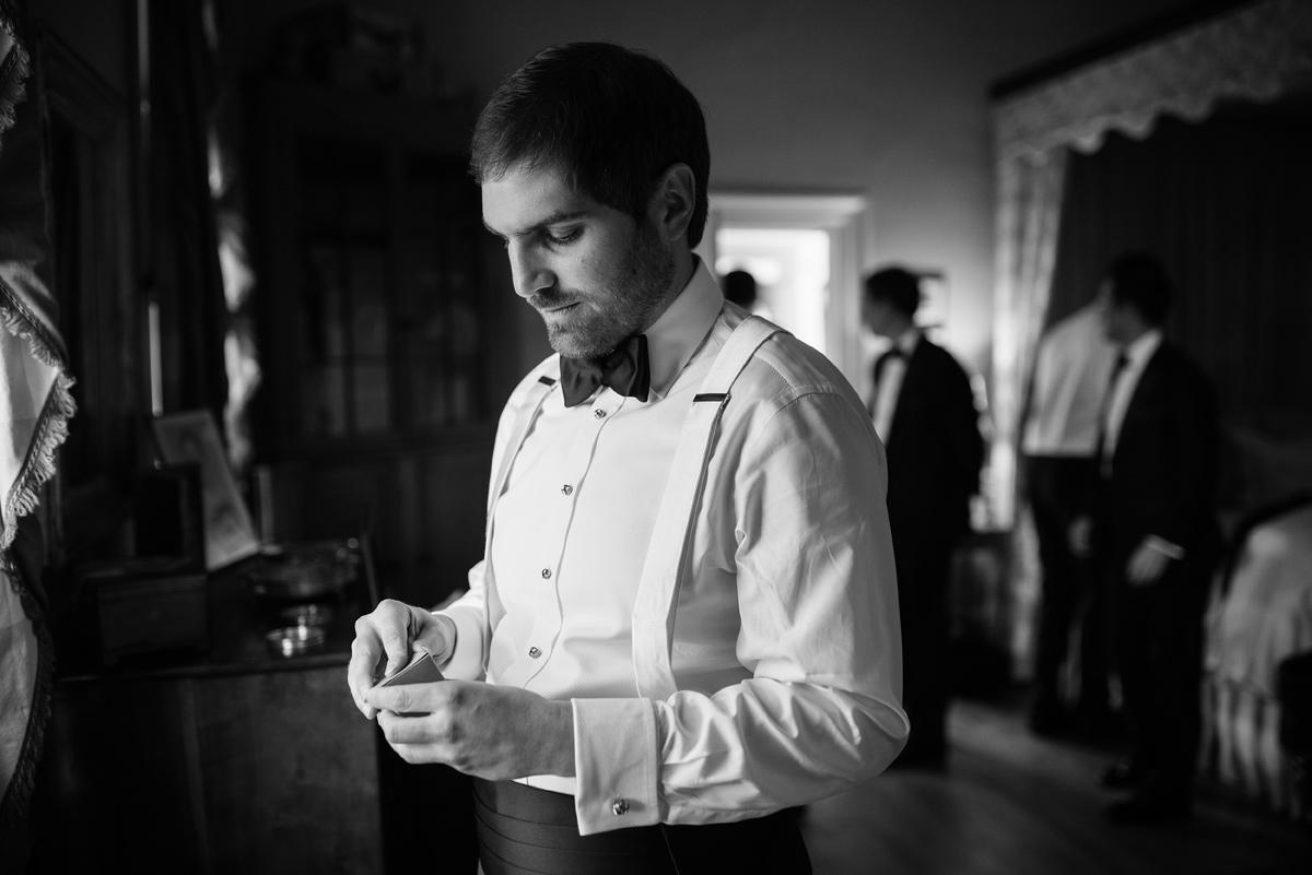 pharsalia virginia wedding groom getting ready