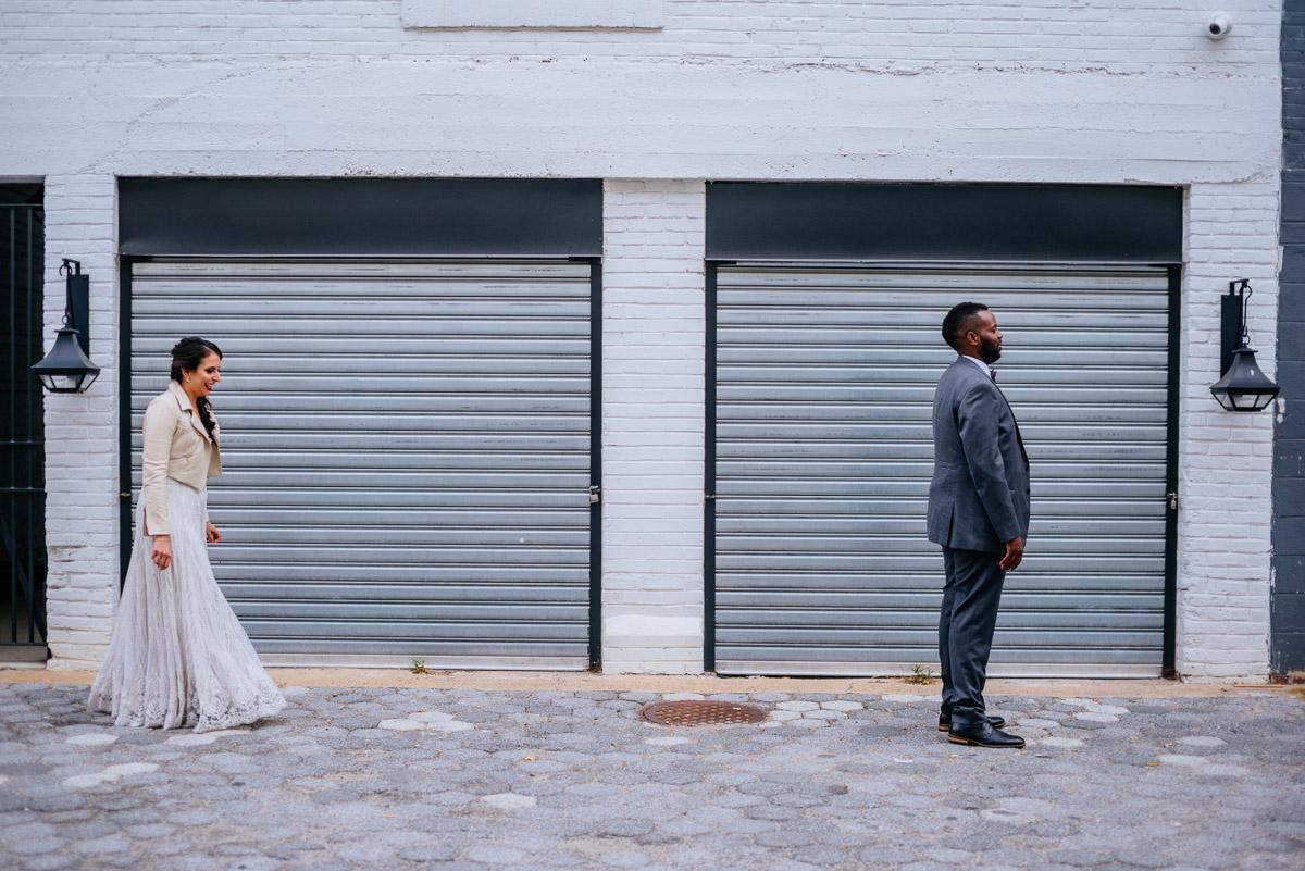 bride and groom first look washington dc