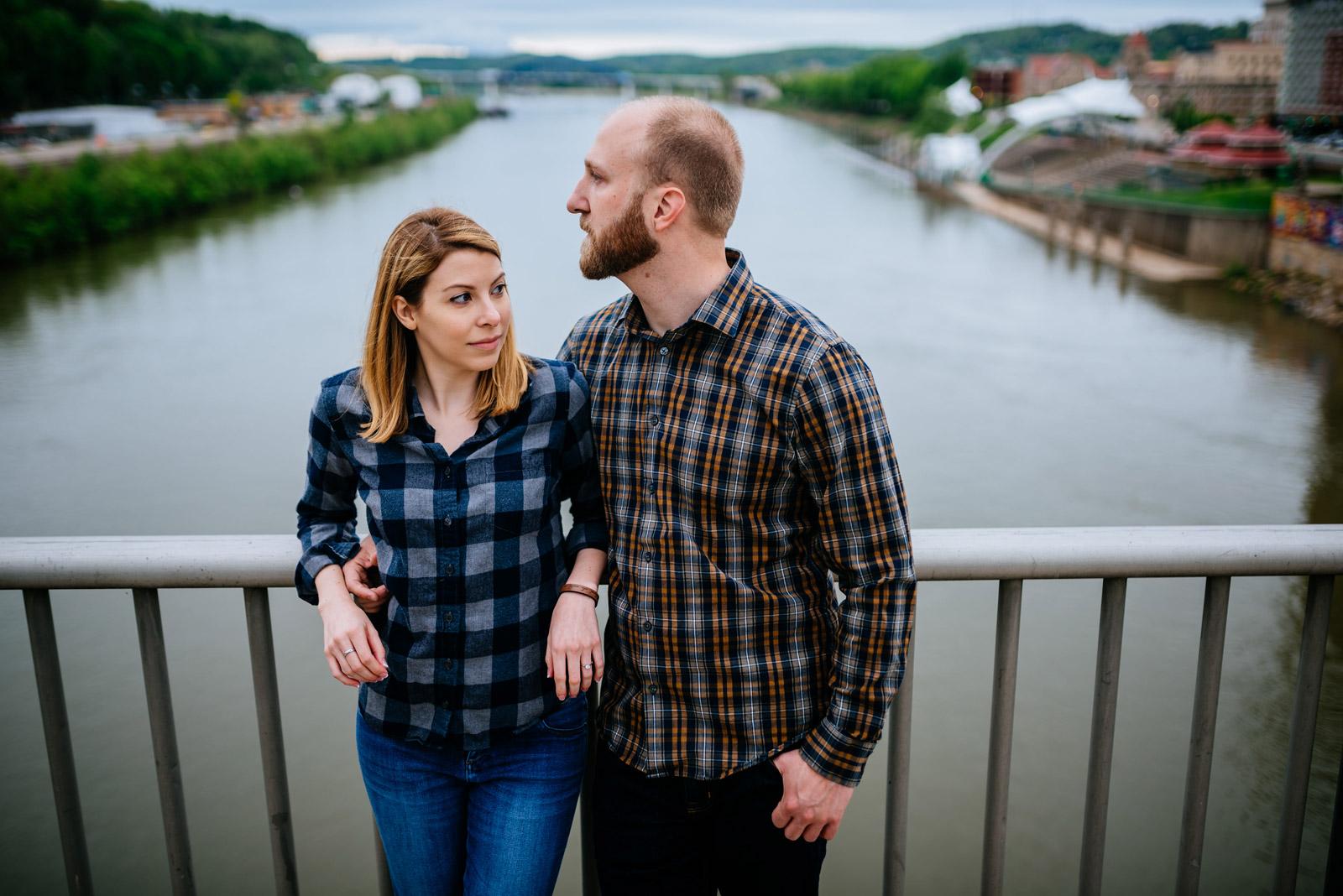 charleston southside bridge engagement portraits