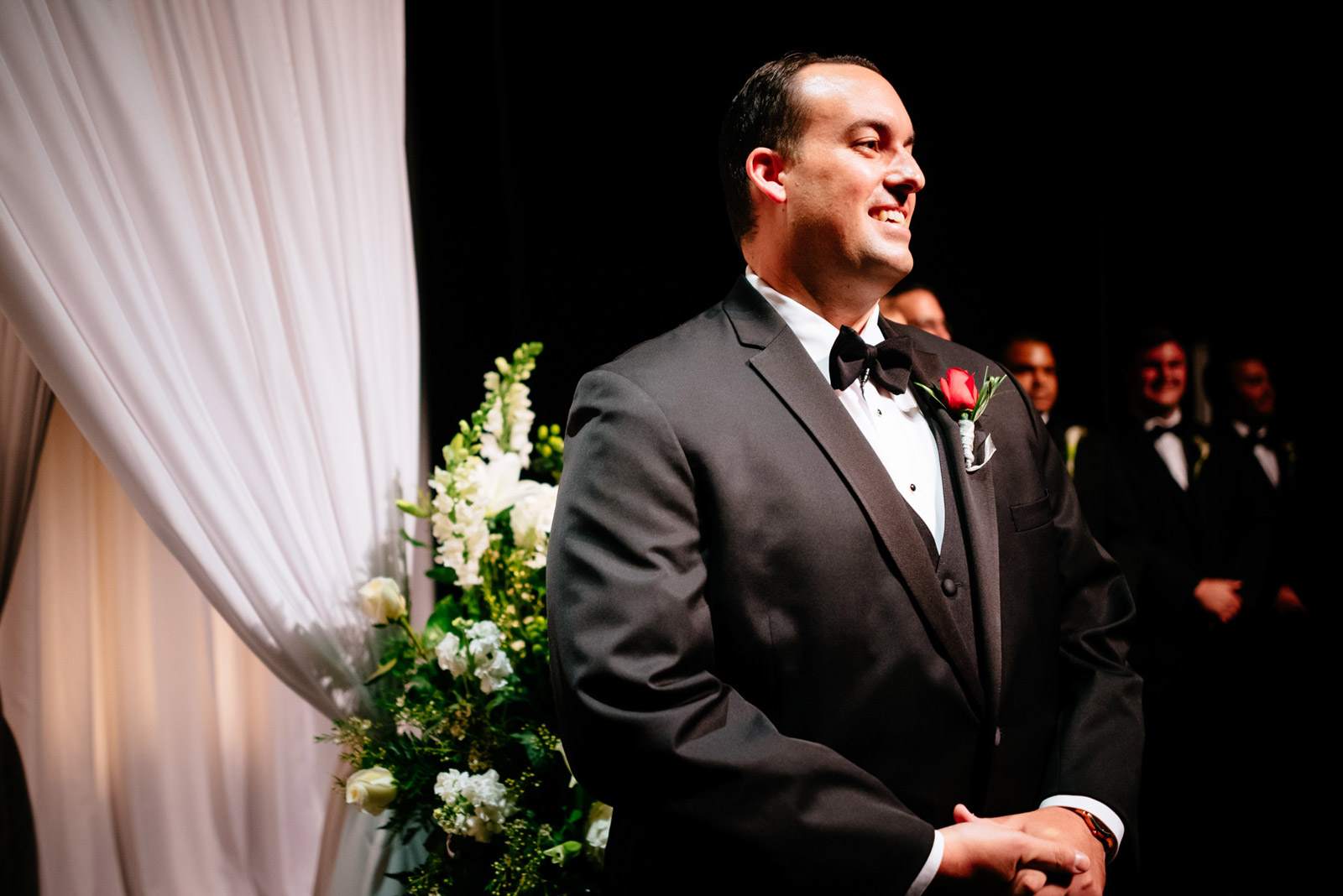 clay center walker theater wedding ceremony