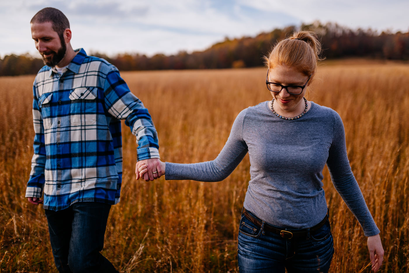 fall couple portraits in west virginia