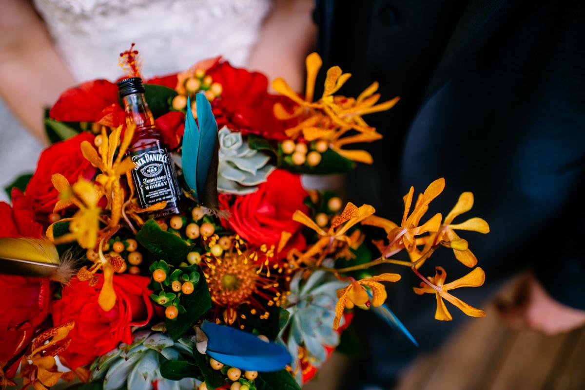 jack daniels wedding bouquet