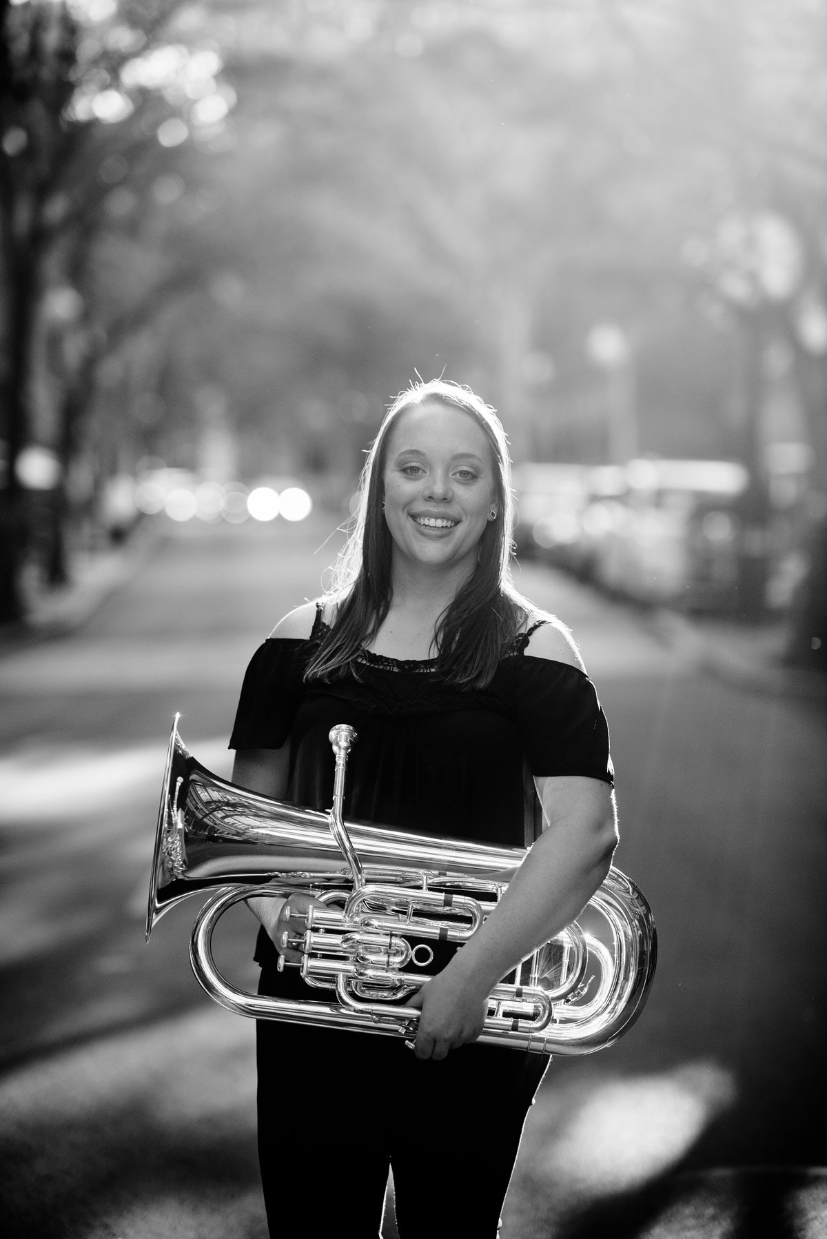 charleston wv high school senior portraits capitol street euphonium