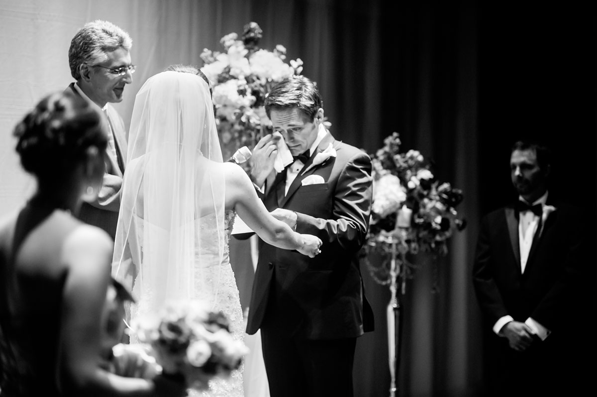 emotional groom during wedding ceremony west virginia wedding