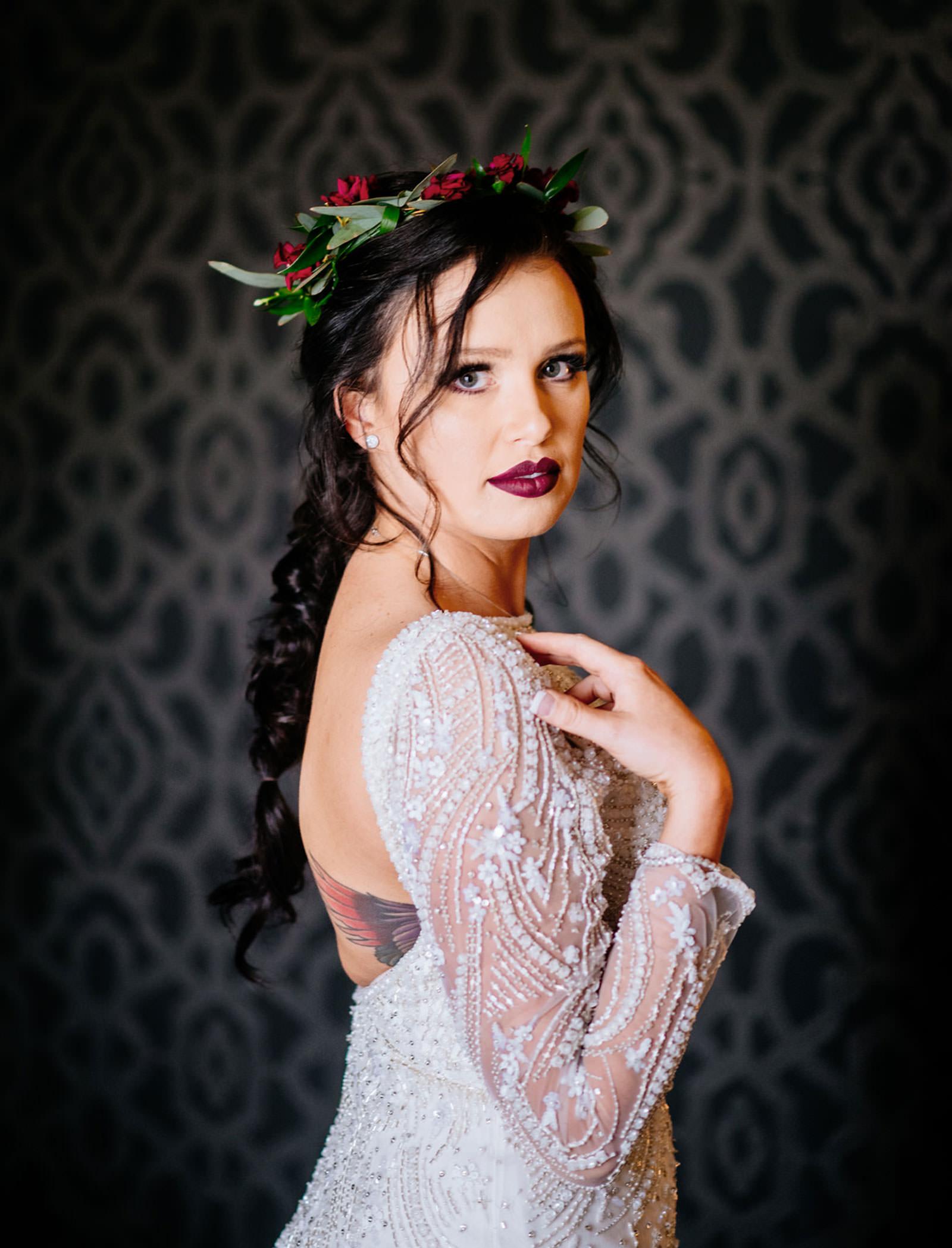 bridal portait chestnut hotel morgantown wv wedding
