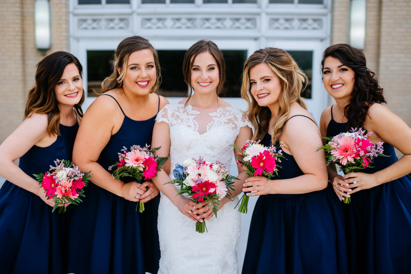 bridesmaids at uc university of charleston