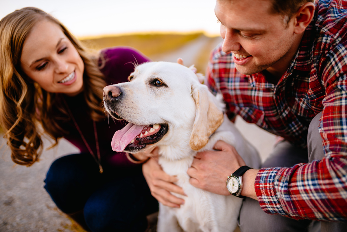 charleston wv engagement with dog