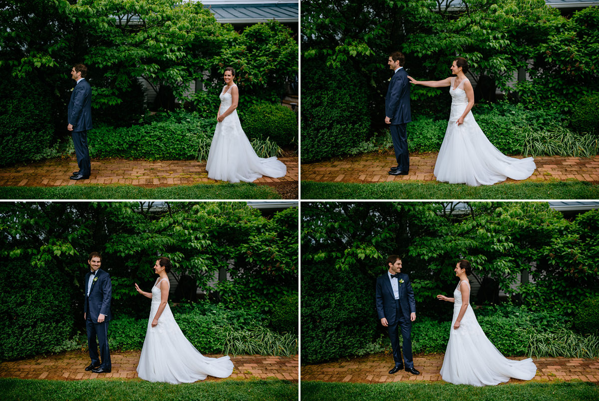 pharsalia virginia wedding bride and groom first look