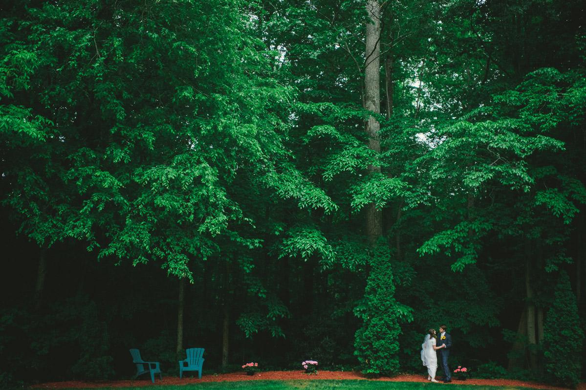 bride groom dancing in the woods backyard charleston wv wedding