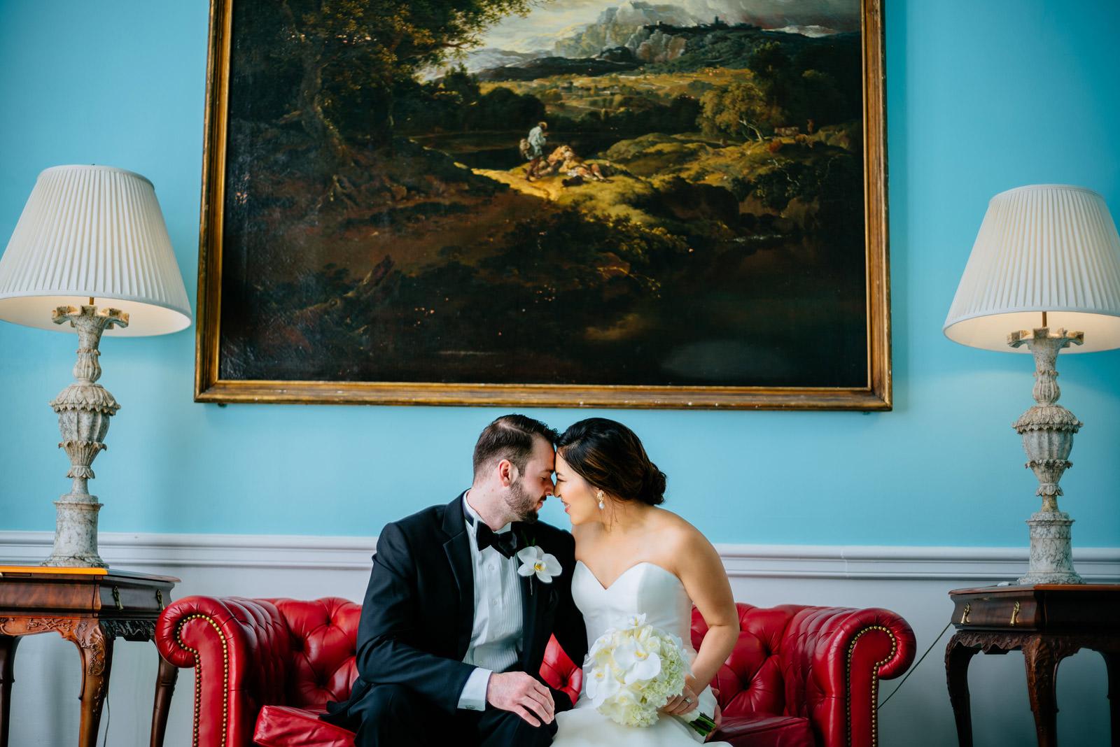 bride groom photos greenbrier chapel wedding