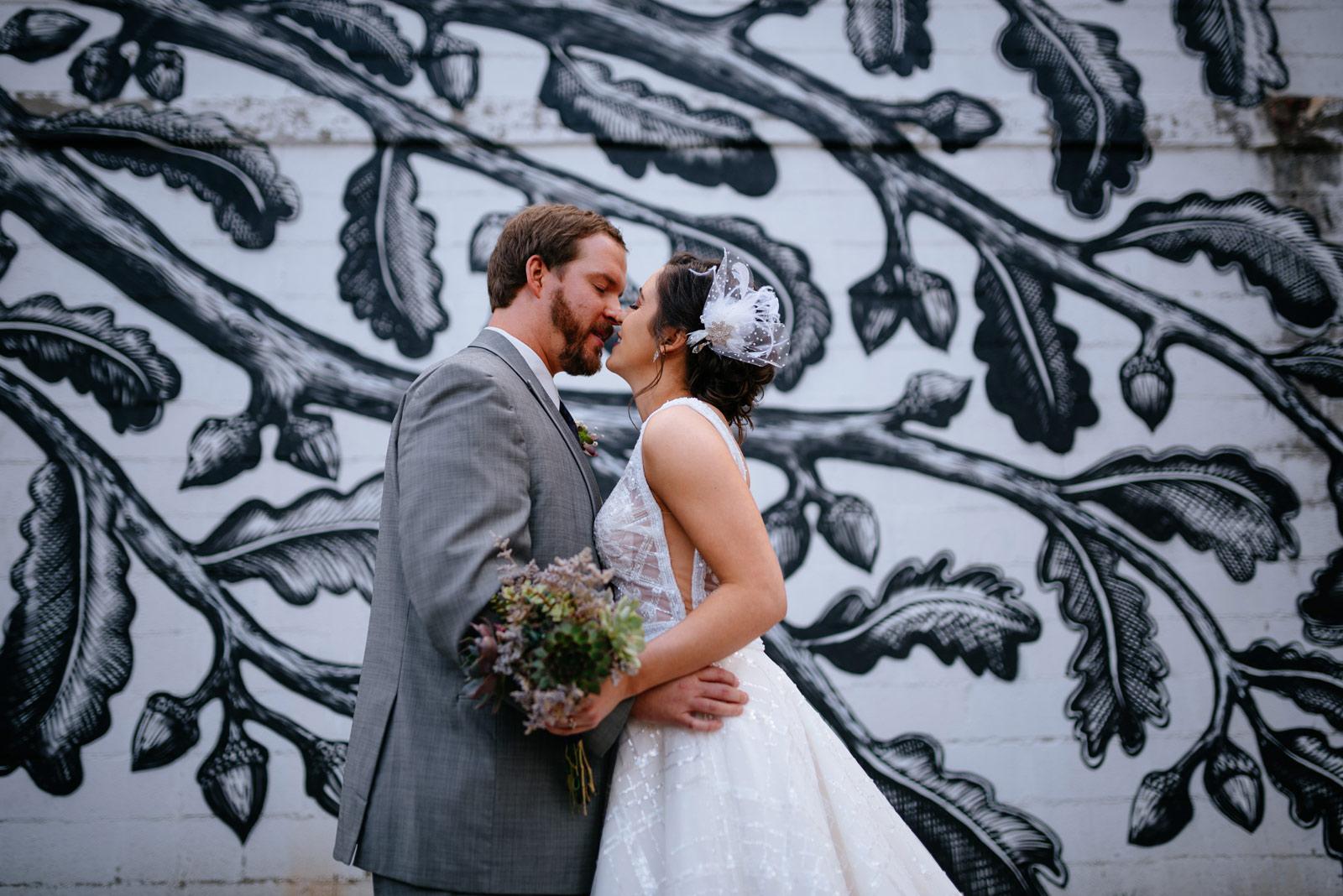 first look 21c museum lexington wedding