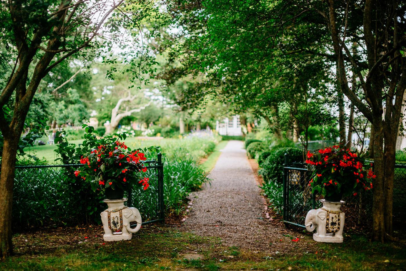 garden party wedding ceremony