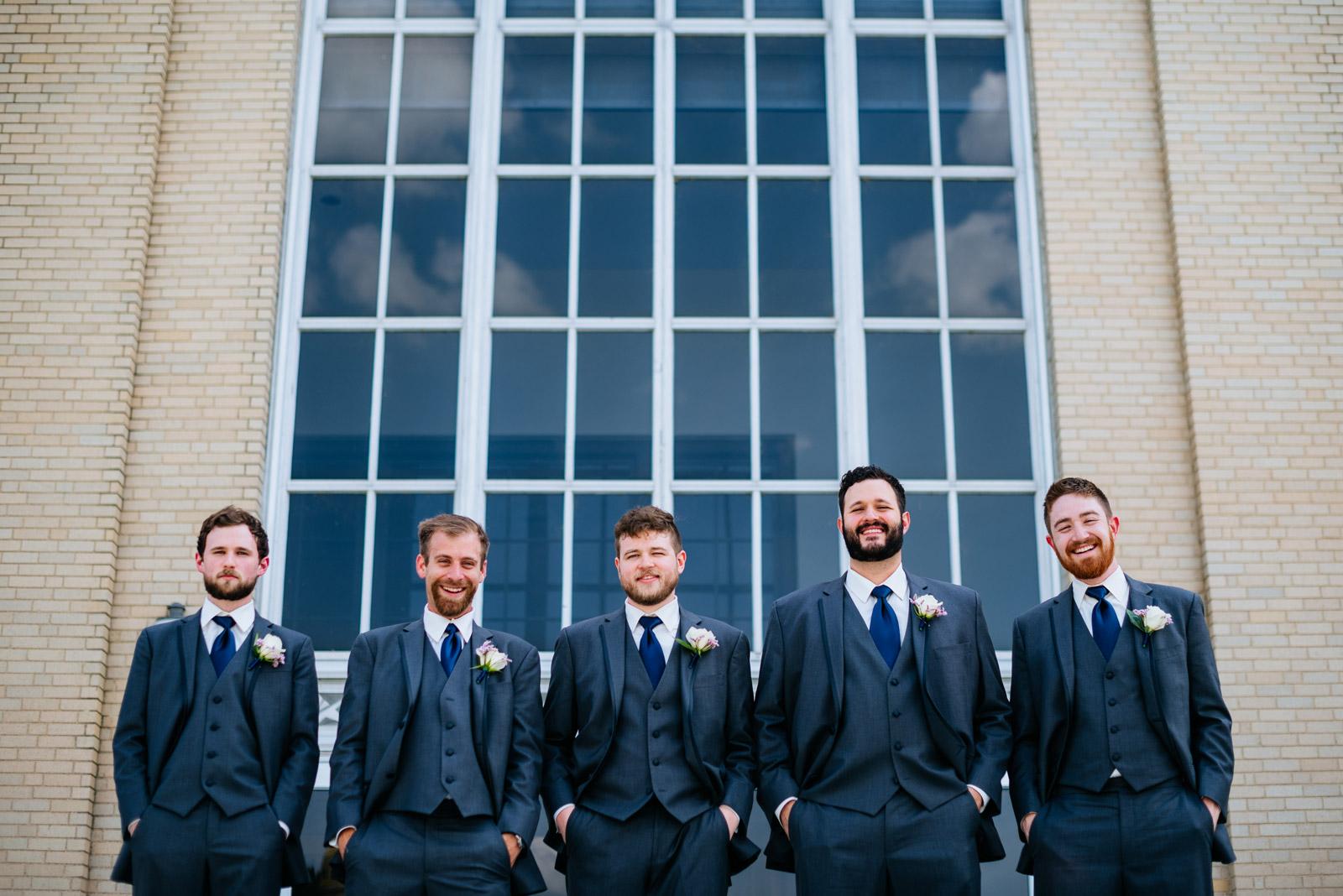 groomsmen at uc university of charleston