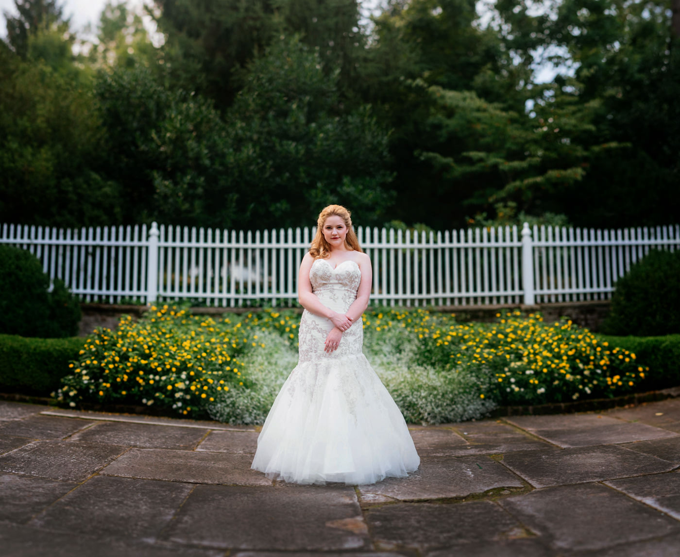 bokeh panorama bridal portrait at the greenbrier
