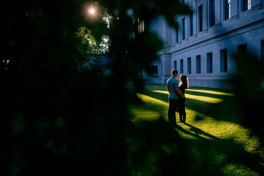 engagement photos at charleston wv capitol complex