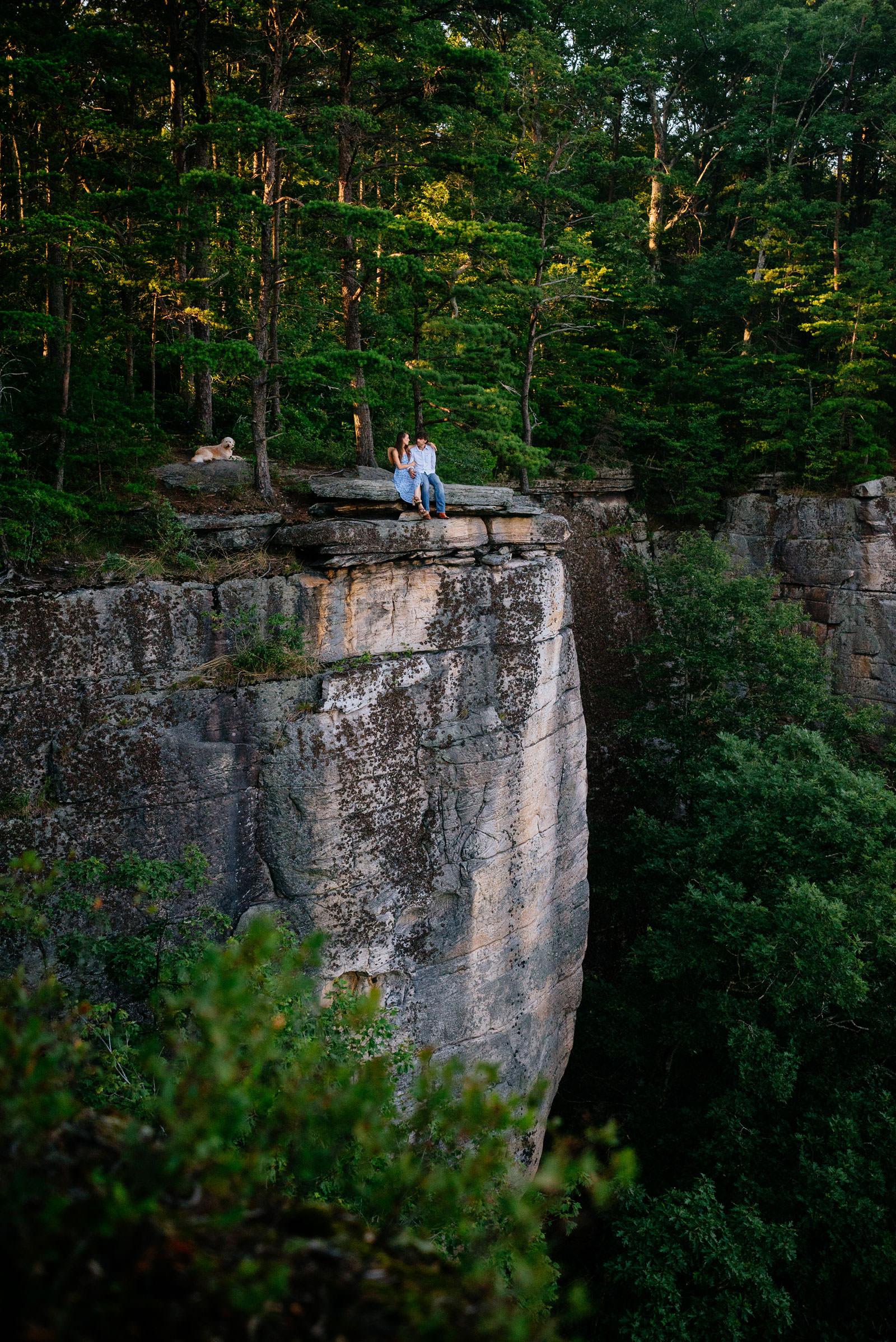 epic engagement photos new river gorge wv