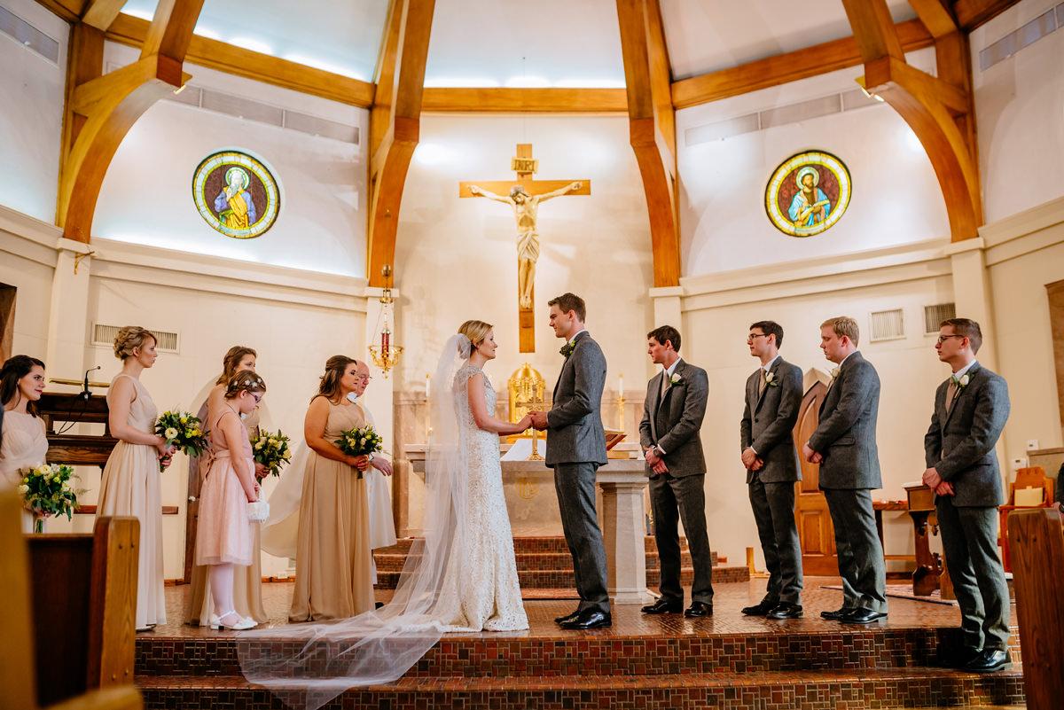 february winter wedding huntington wv church ceremony