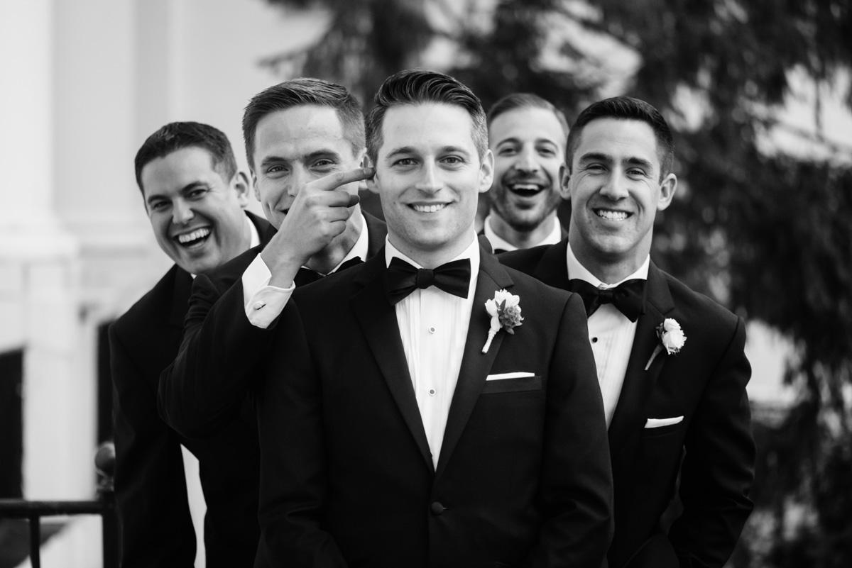 funny groomsmen portrait