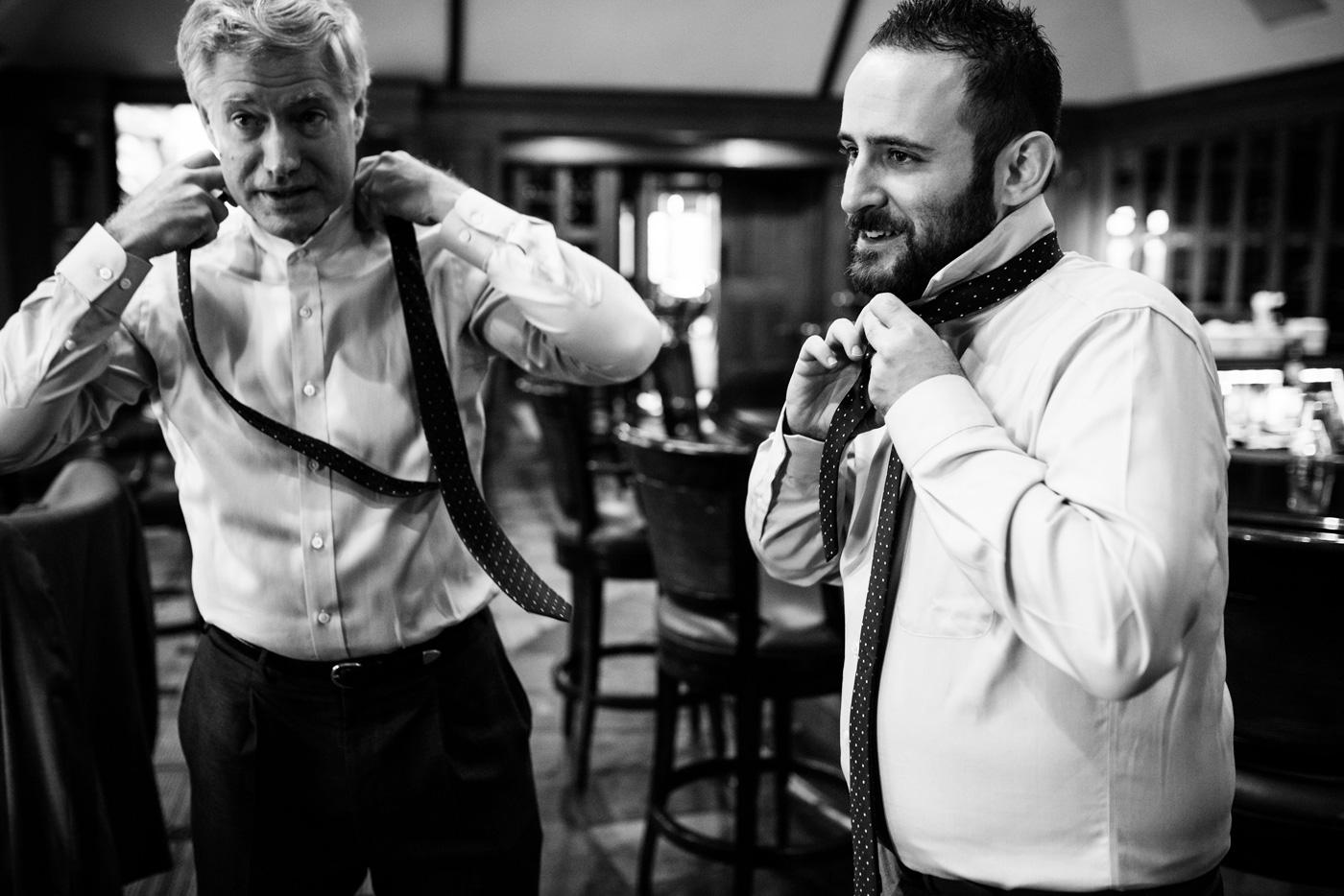 groomsmen getting ready before wedding
