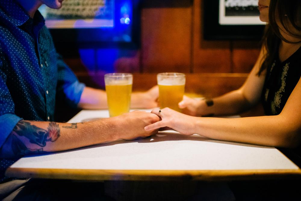 west virginia craft beer engagement session genes beer garden morgantown wv