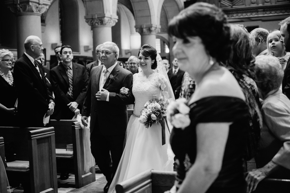 bride walking down aisle by best wv wedding photographers the oberports wheeling