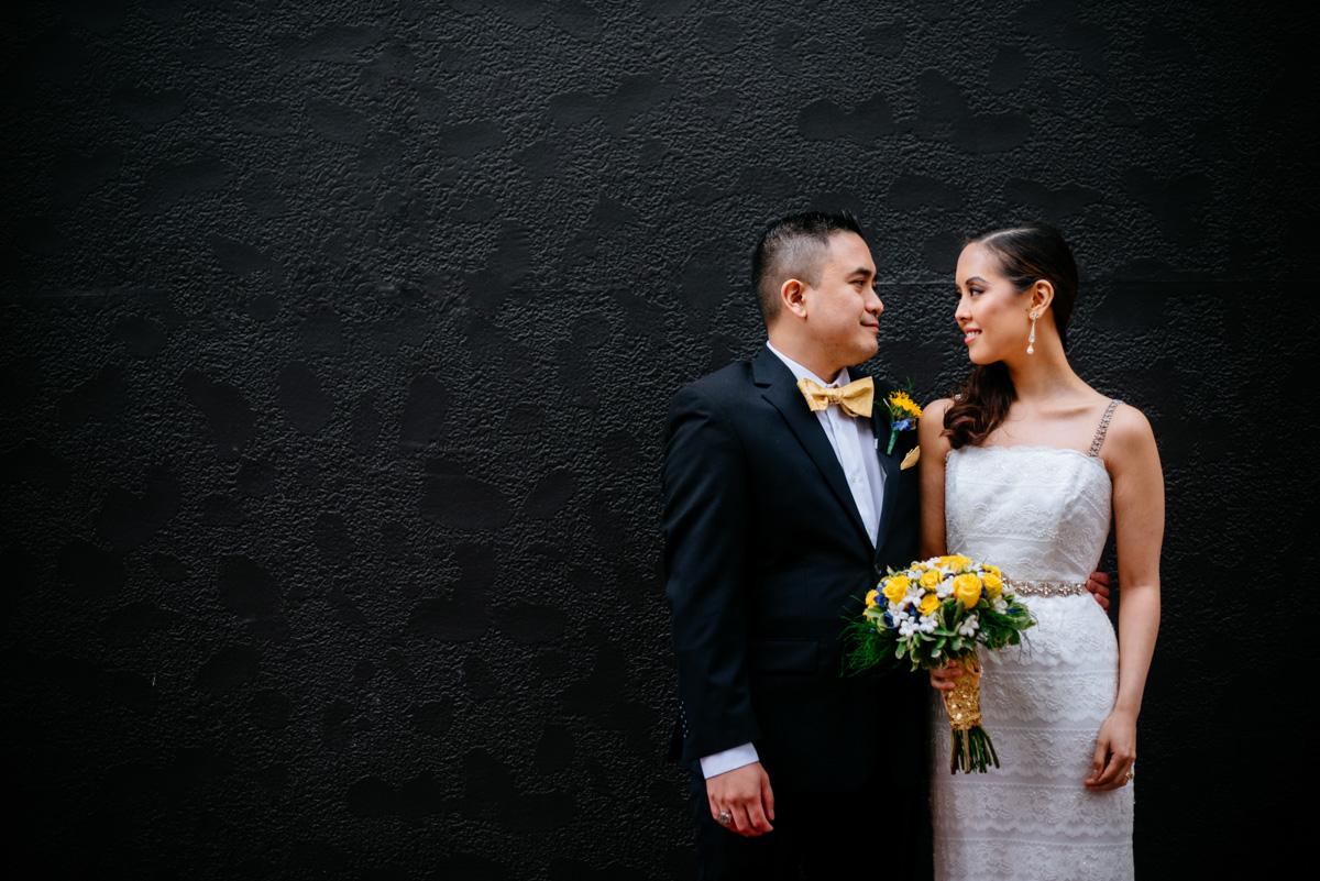 charleston wv wedding bride and groom portrait