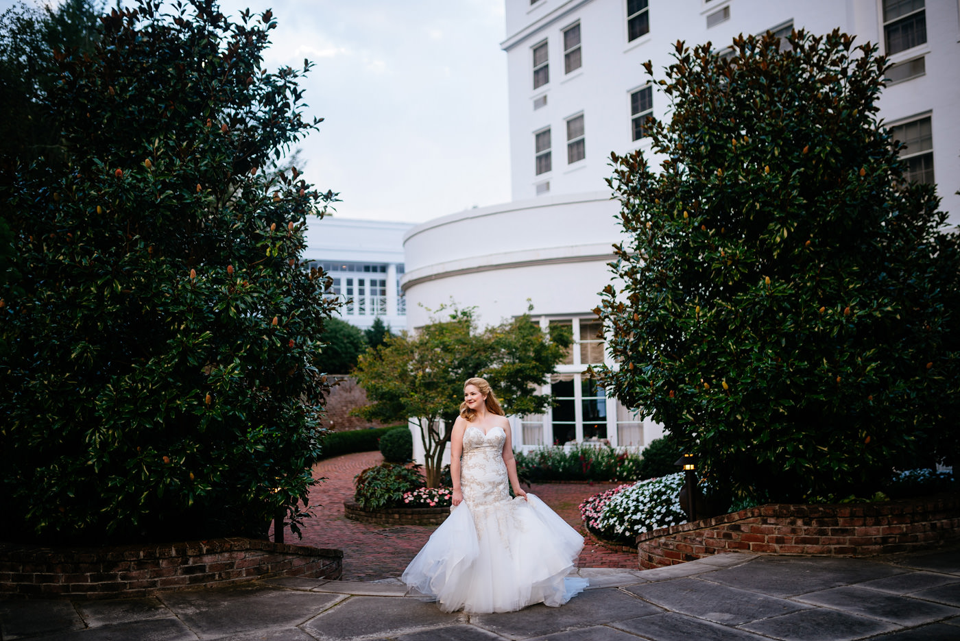 happy bride at the greenbrier