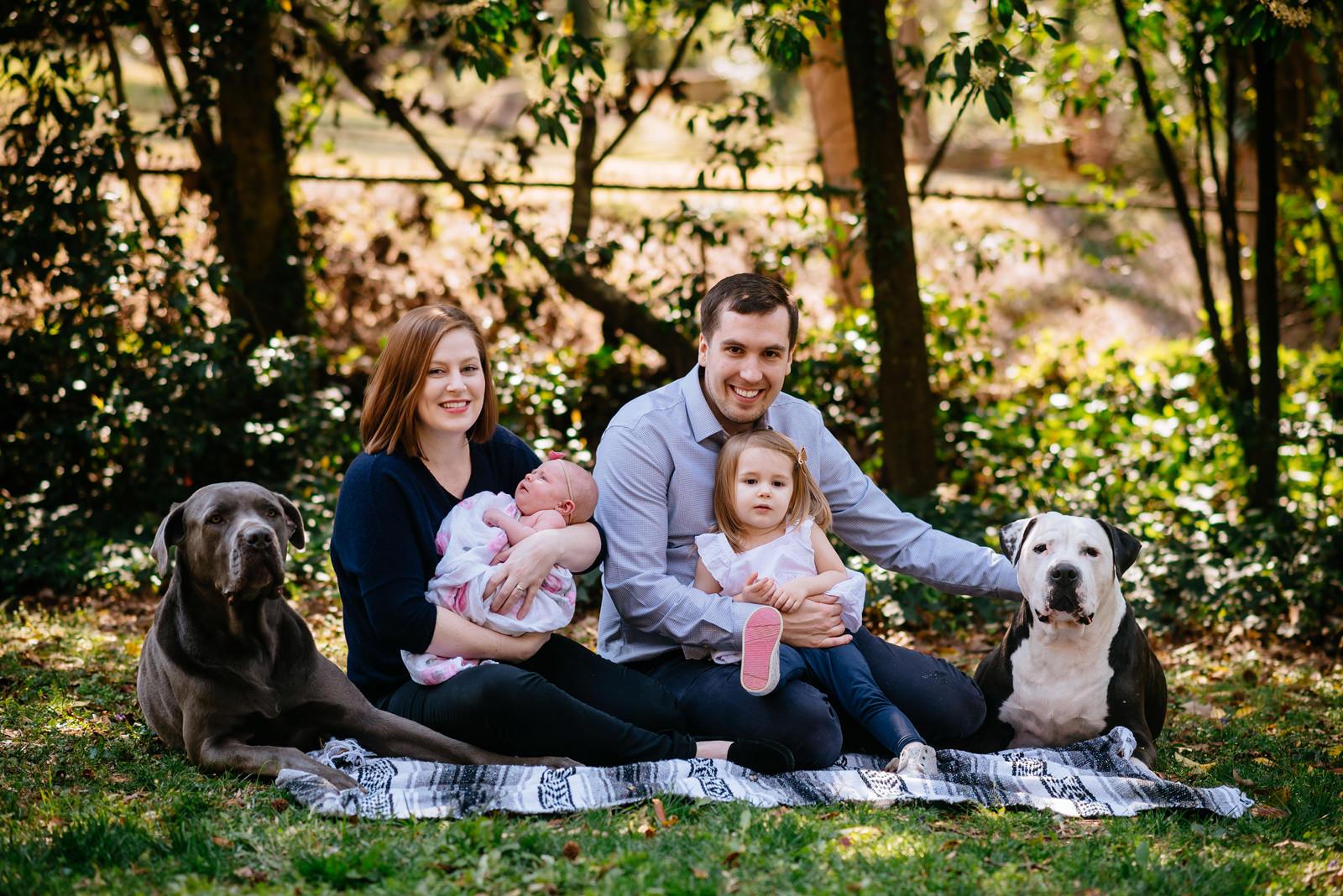 happy family photo session