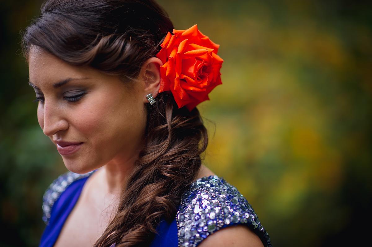 unconventional wedding dresses blue gown marchesa