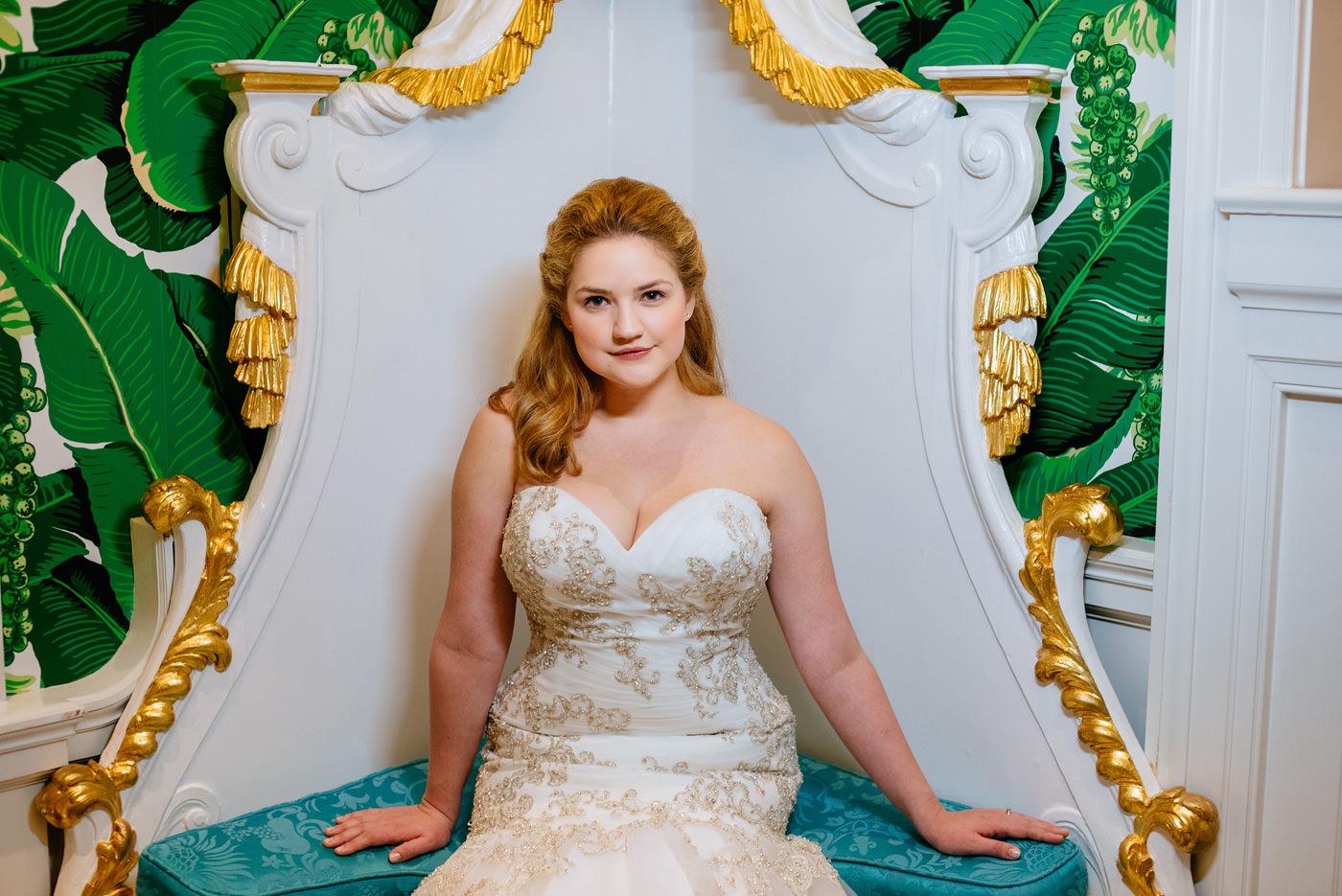 bride at the greenbrier resort