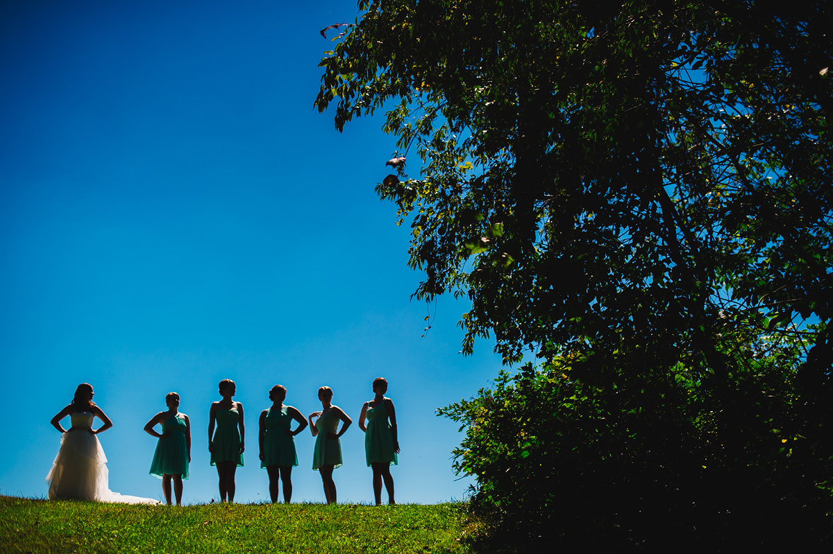 creative bridesmaid silhouette