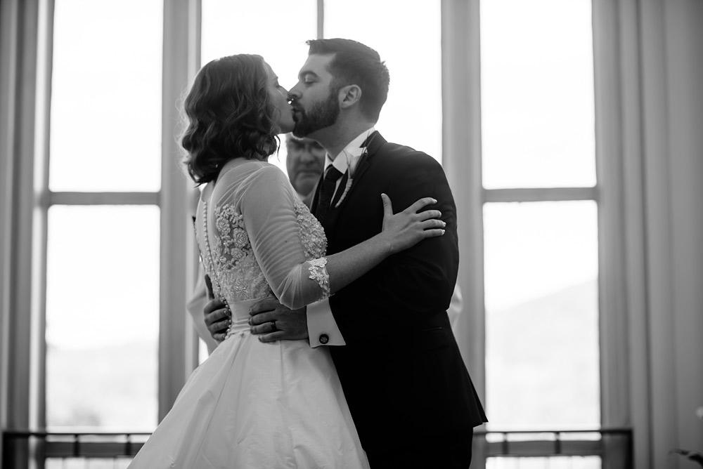 first kiss wv wedding university of charleston