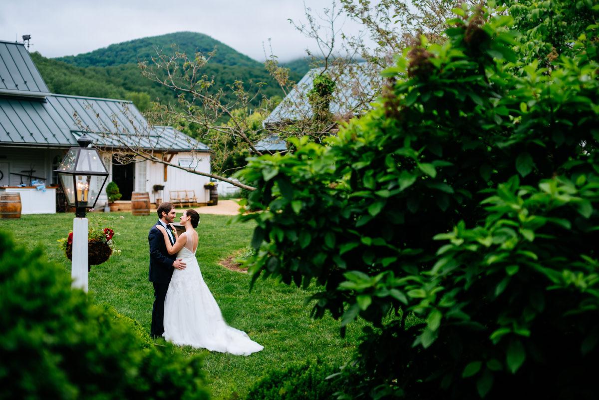 pharsalia virginia wedding quiet moment with bride and groom