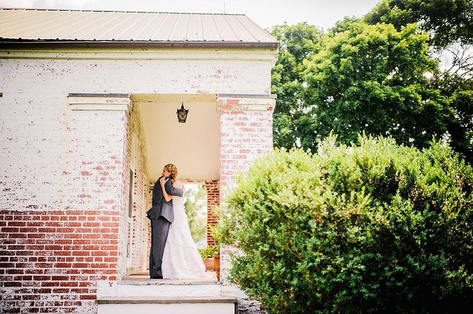 wedding first look hug