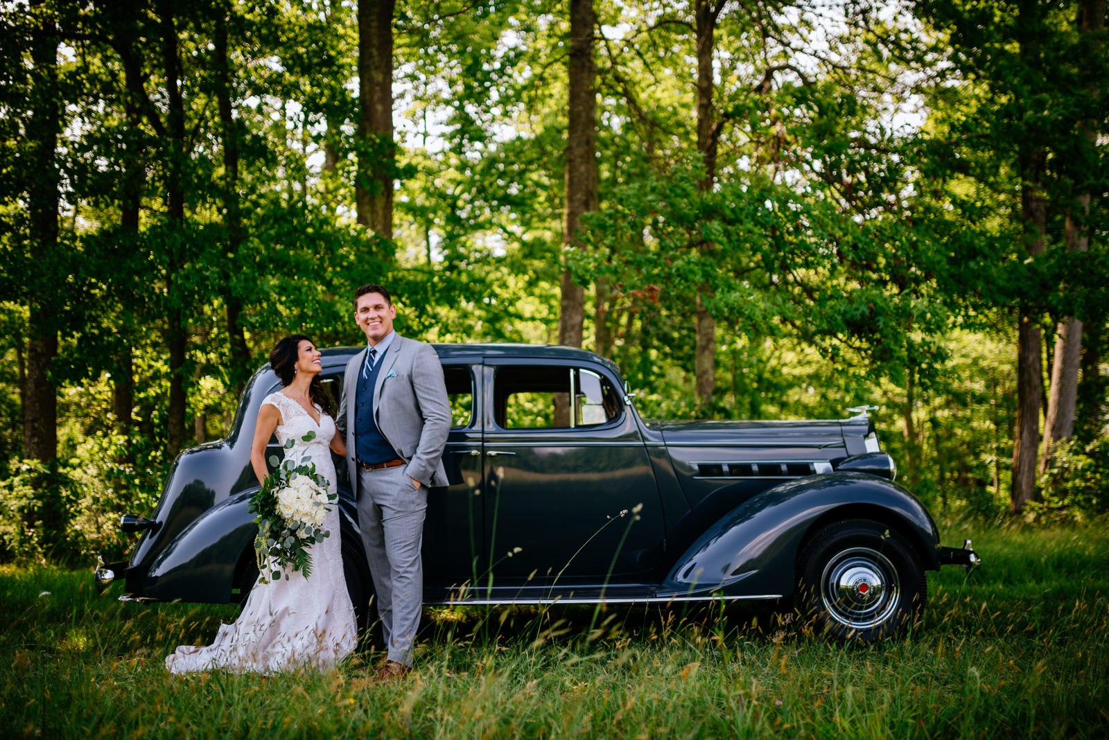 wedding portrait 1937 packard