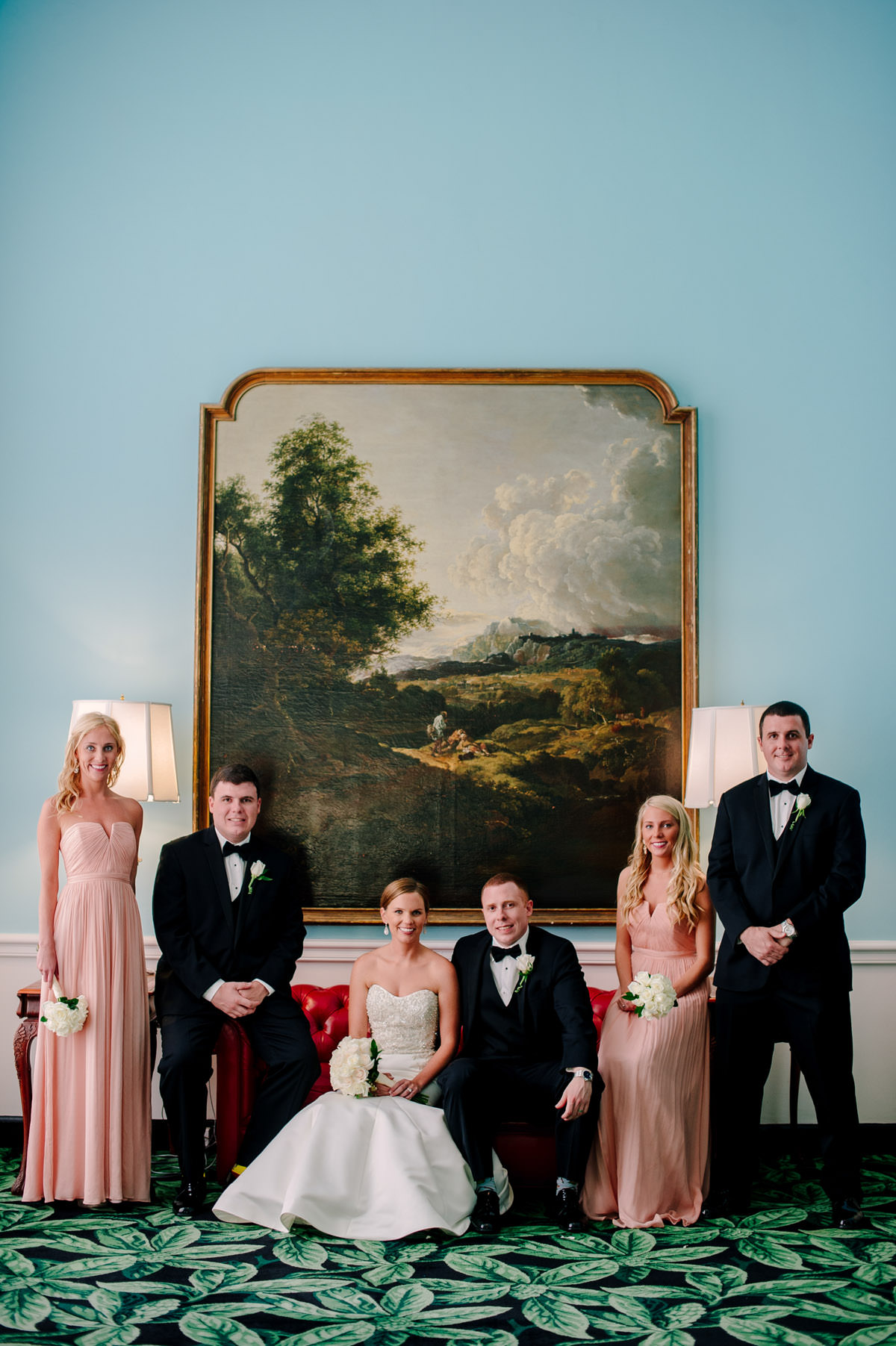 classic sophisticated wedding party portrait dorothy draper carleton varney design decor greenbrier resort west virginia by best photographers the oberports
