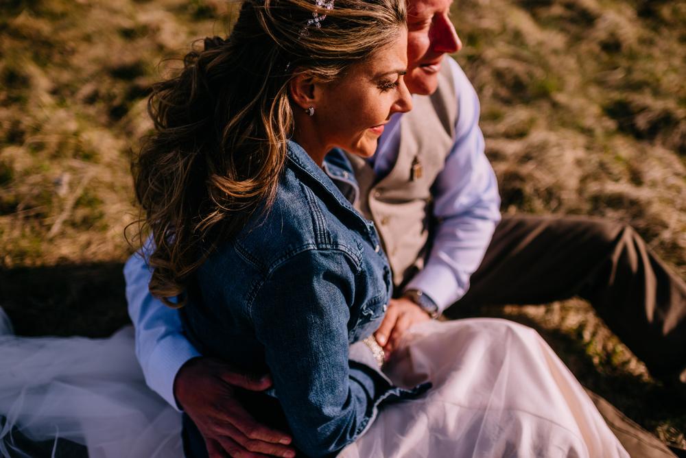cuddling in a field in west virginia