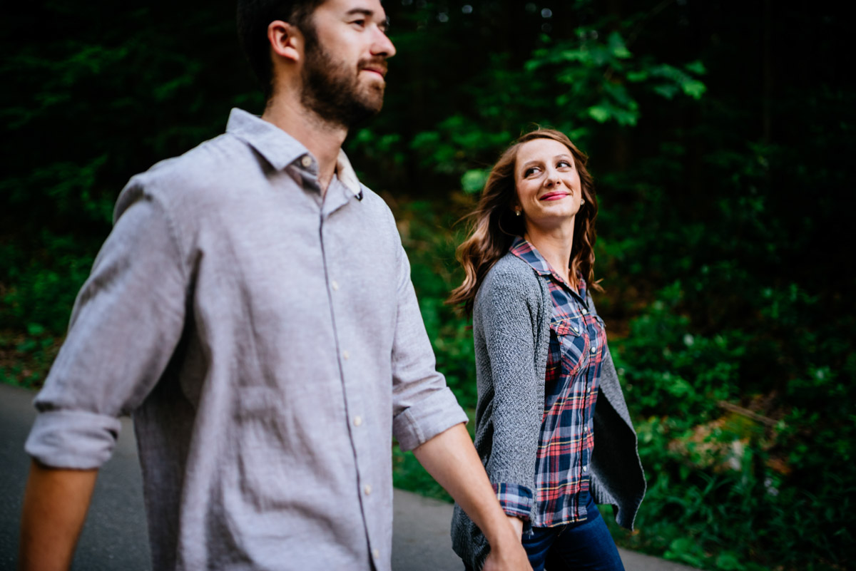 hiking engagement session endless wall trail wv