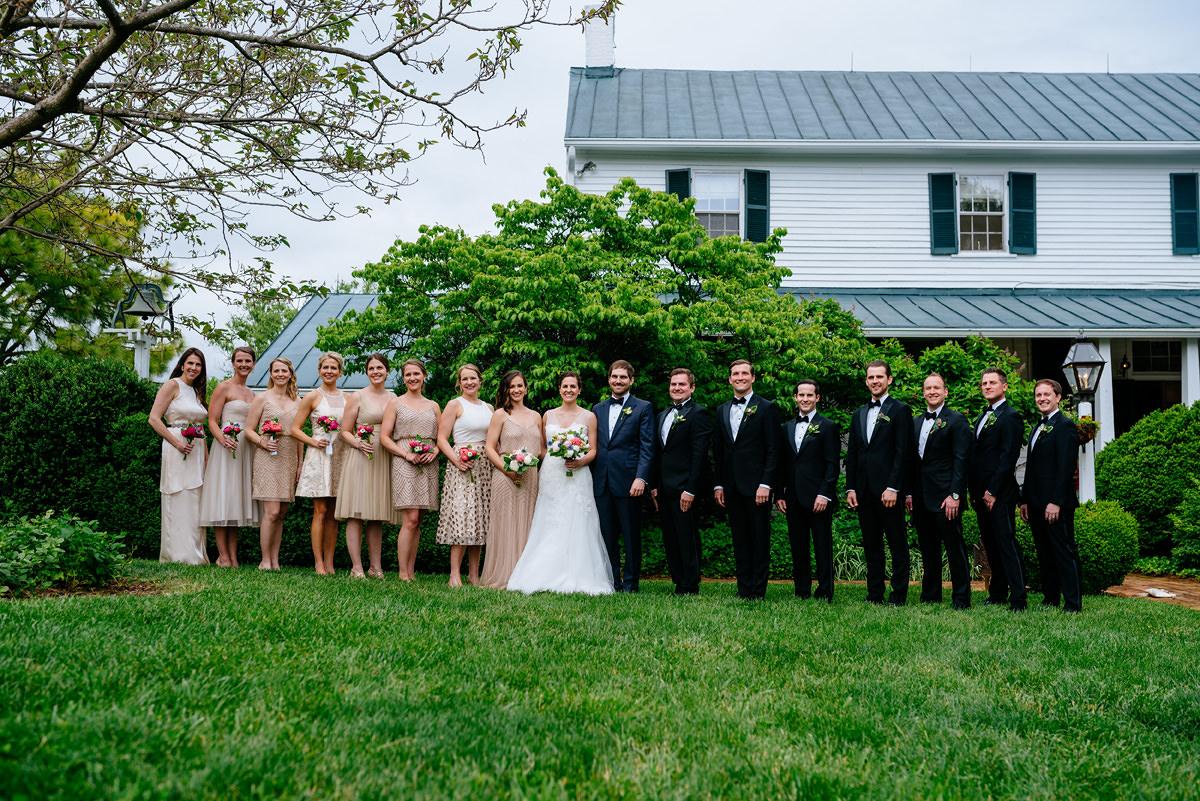 pharsalia virginia wedding wedding party portrait