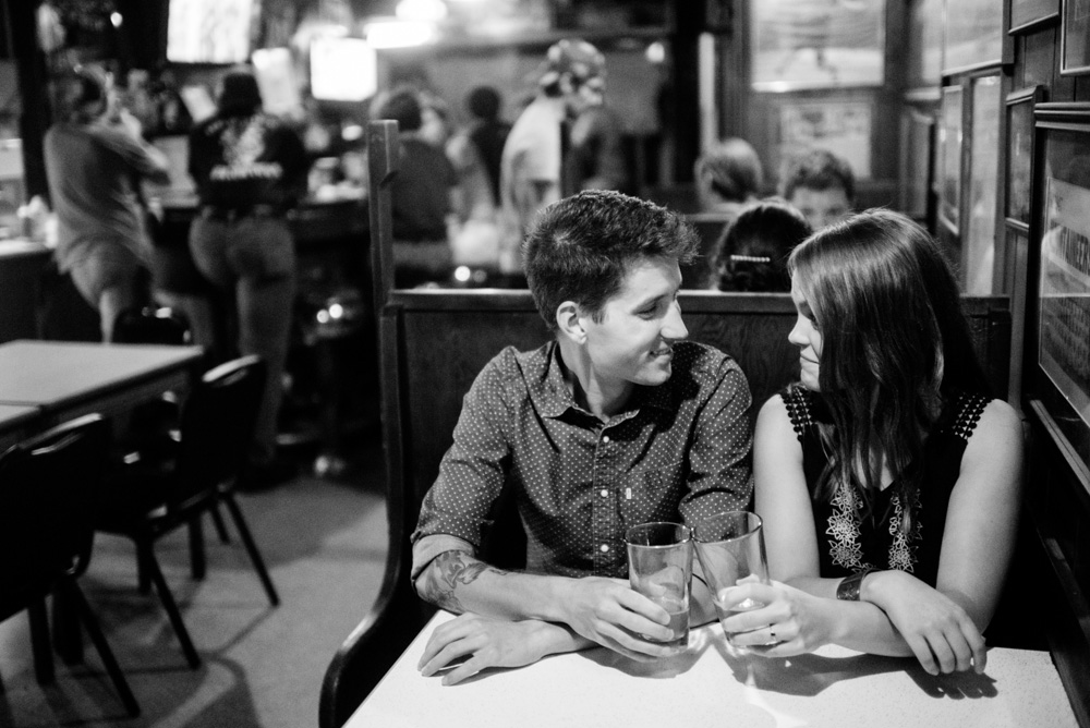 west vriginia craft beer bar engagement photos by the oberports