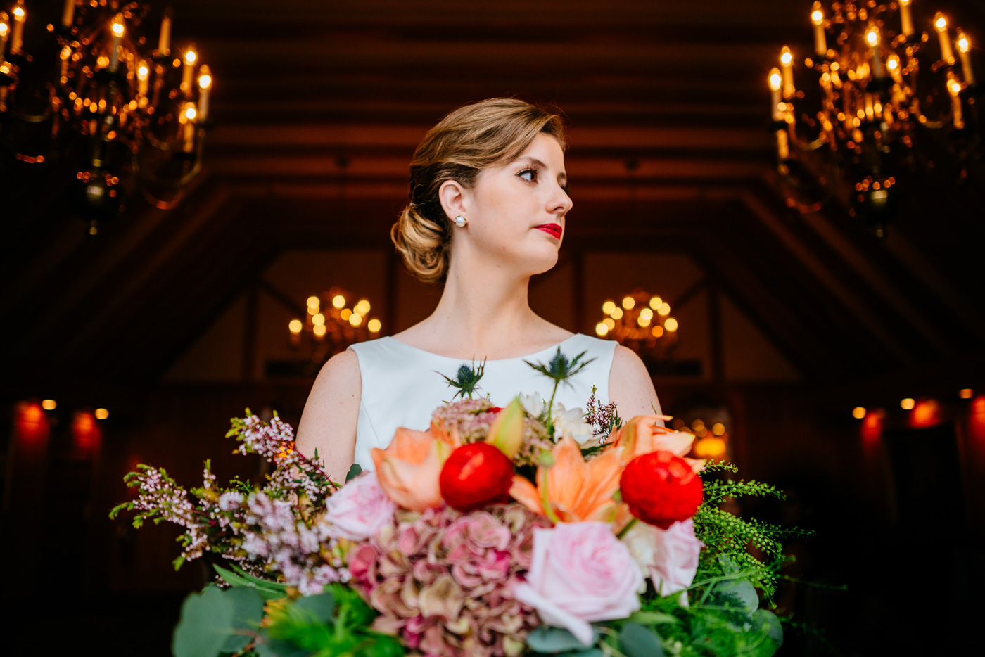 bridal portrait at st clair country club pittsburgh pa