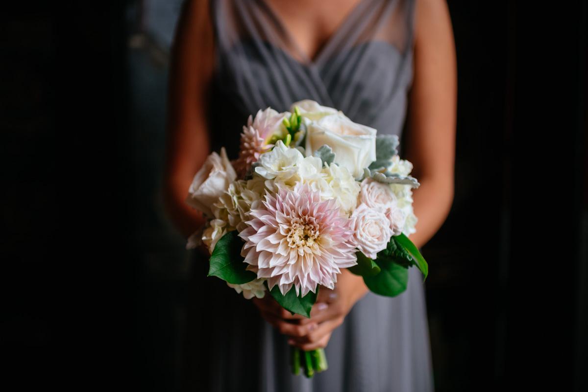 bridesmaid bouquet at the greenbrier resort wedding