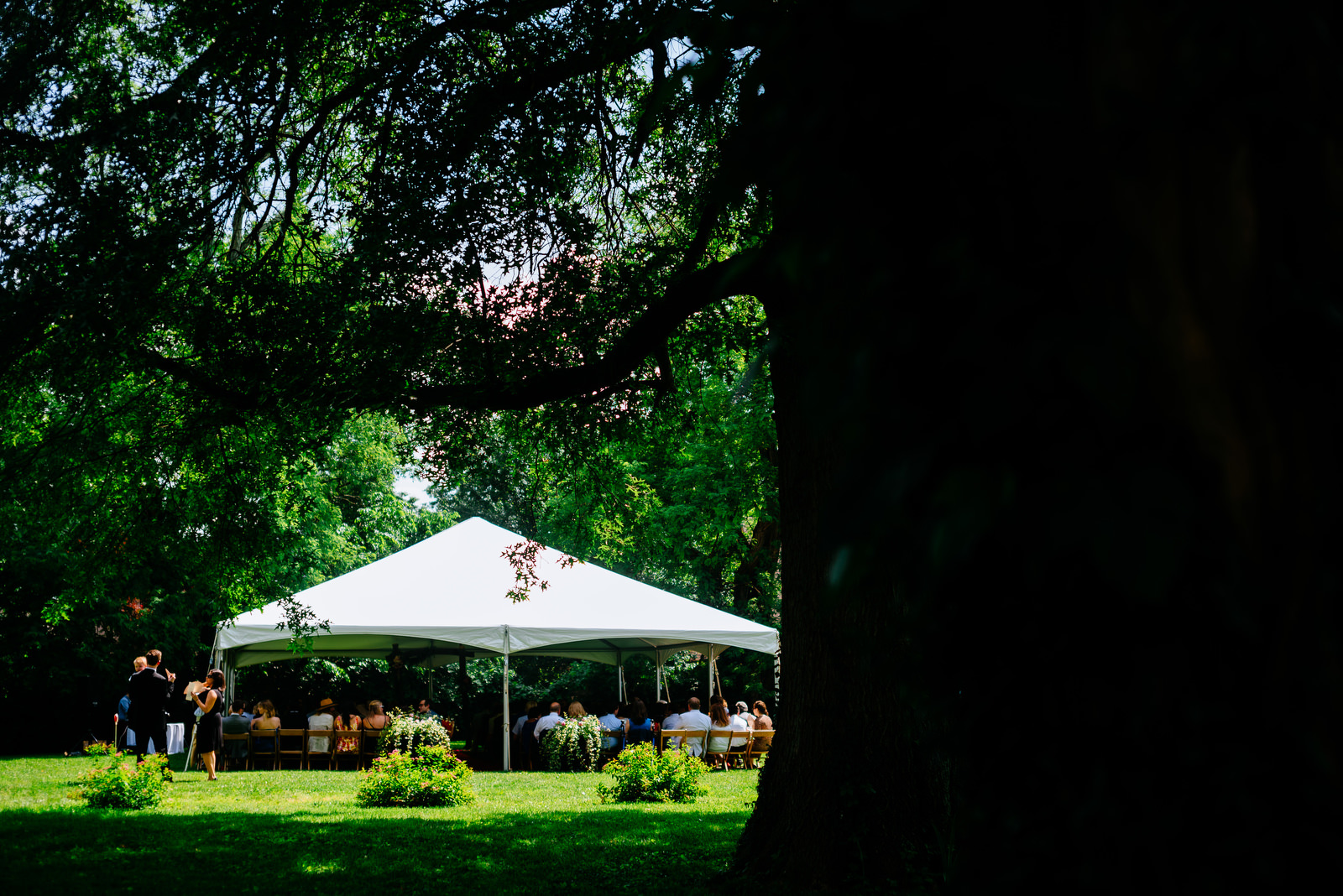 ceremony tent holly hill inn wedding lexington ky