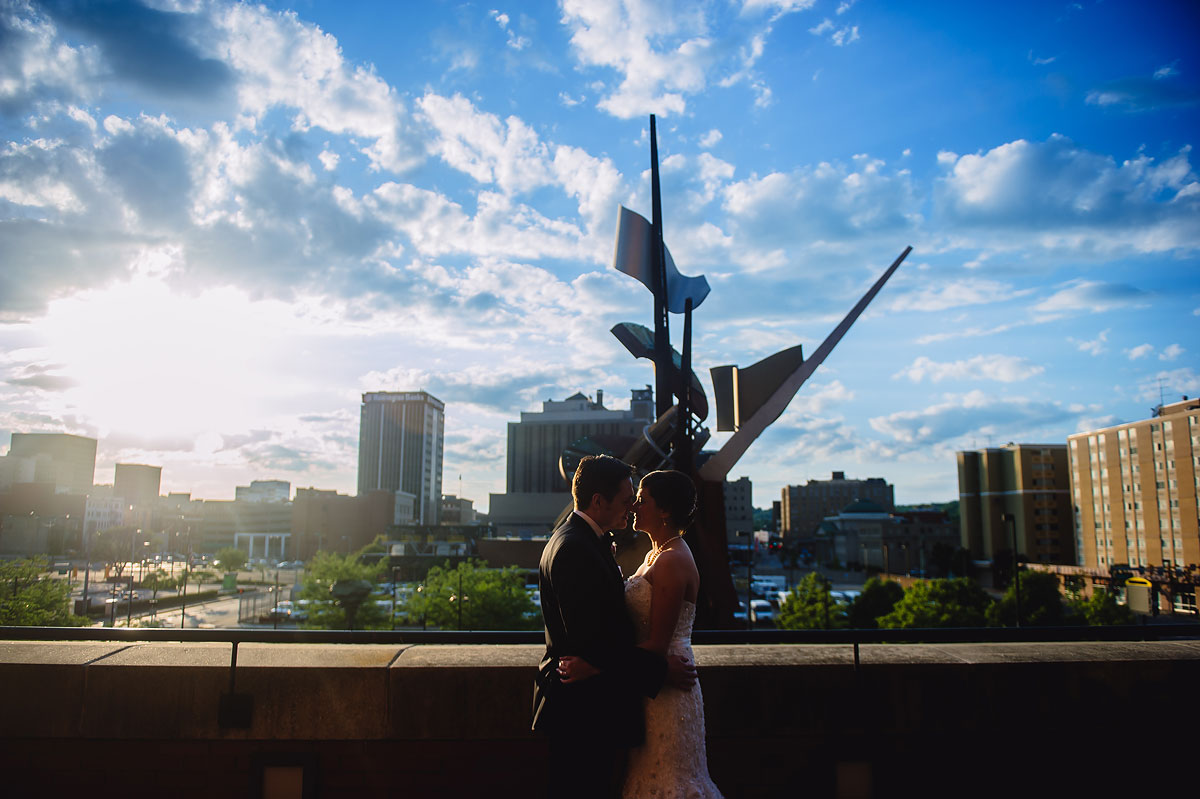 charleston wv west virginia downtown skyline wedding photographers the clay center