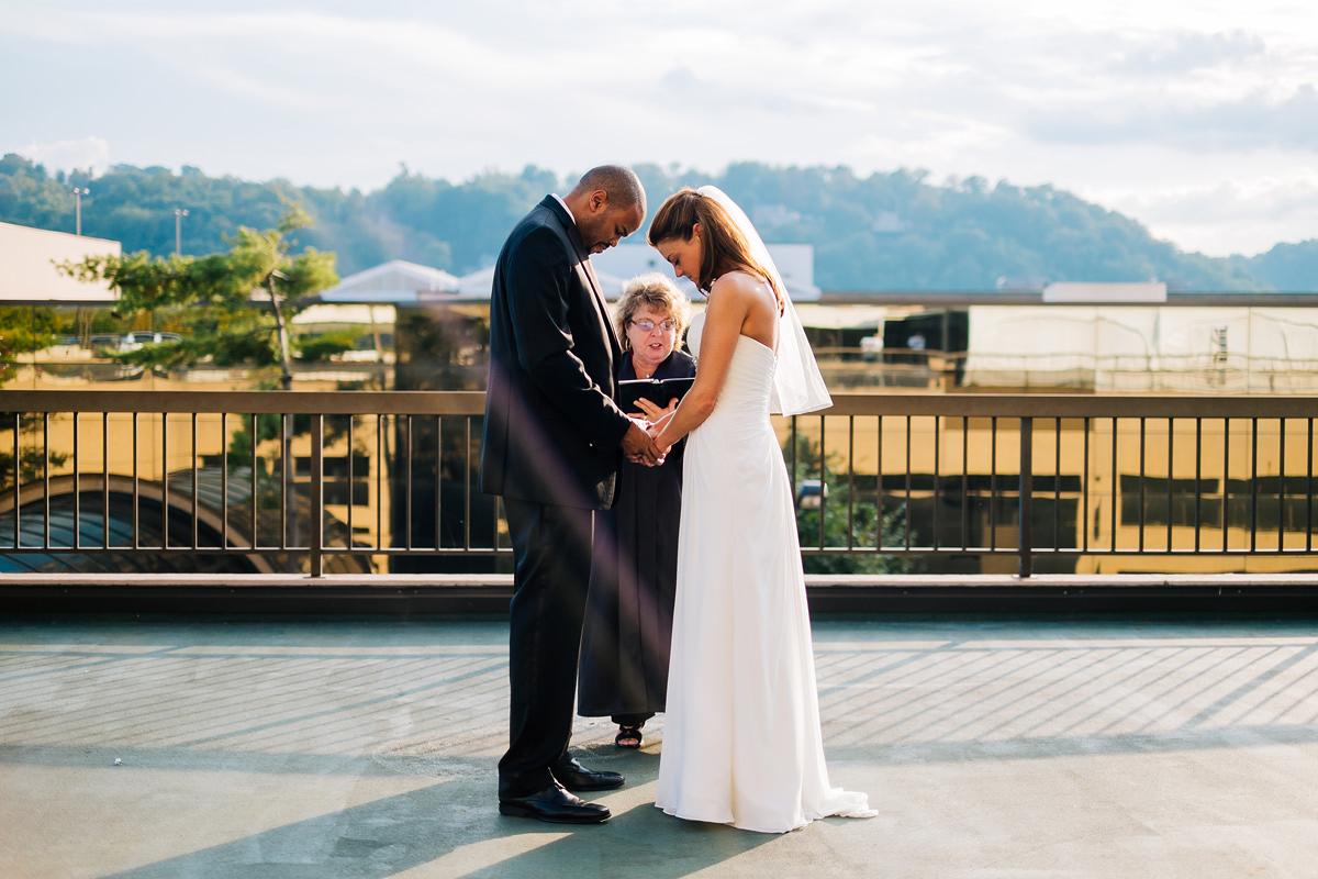 west virginia rooftop elopement photos