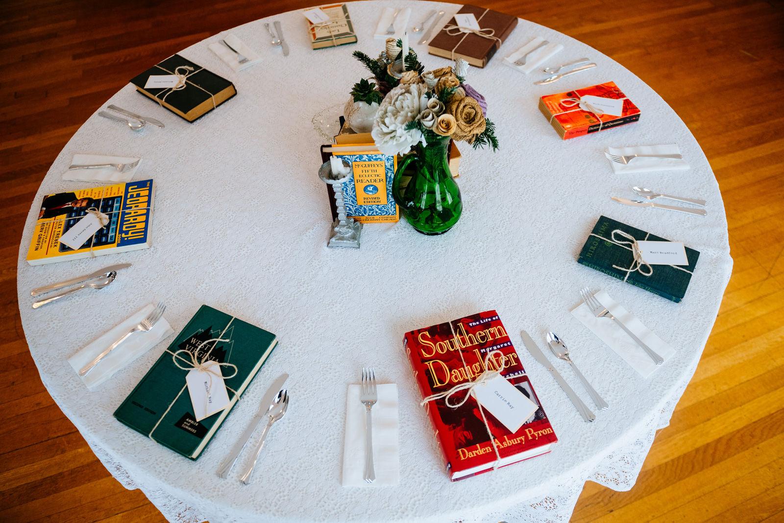 bookworm wedding details