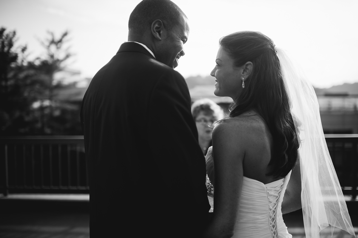 charleston west virginia rooftop wedding ceremony
