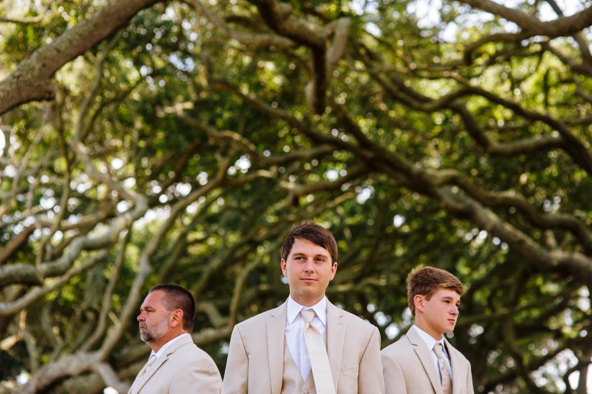 creative groomsmen portrait jekyll island georgia