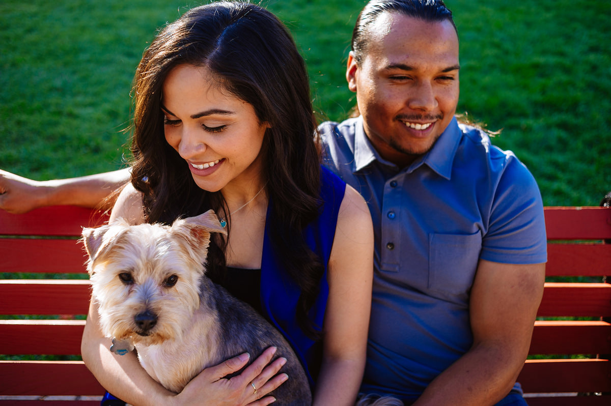 including your dog in your engagement shoot