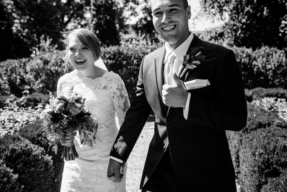 just married craik patton house wedding ceremony